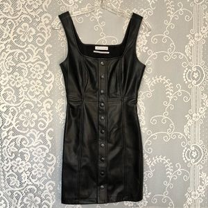Urban Outfitters Pleather Button-down Dress